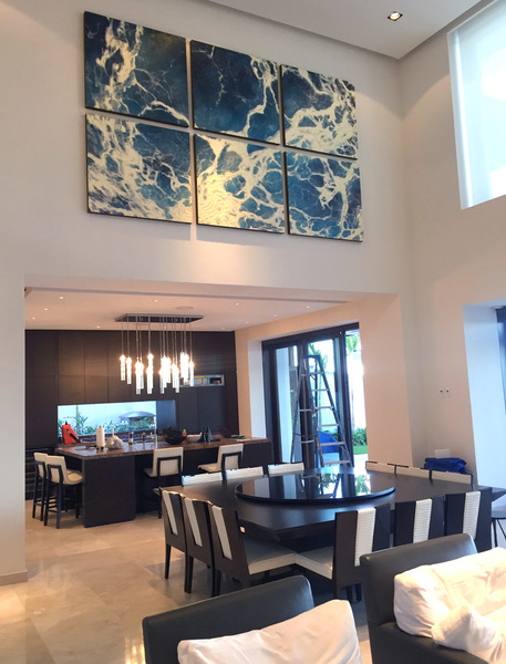 aquas aliis Six Panel on Client Wall- Los Cabo