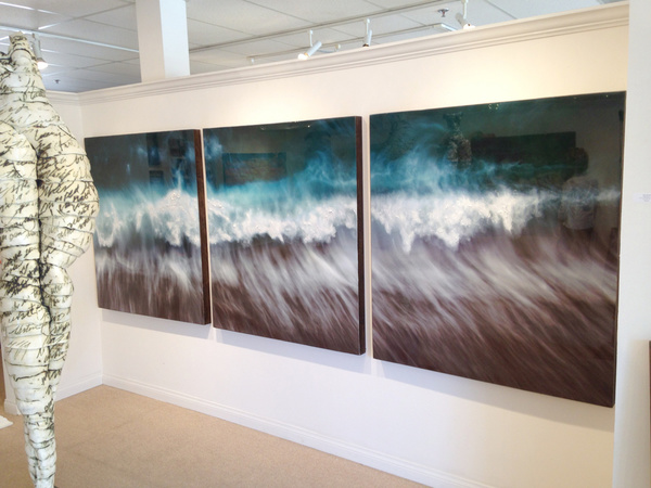 aquas arcanus Triptych 132X48 (view in gallery)
